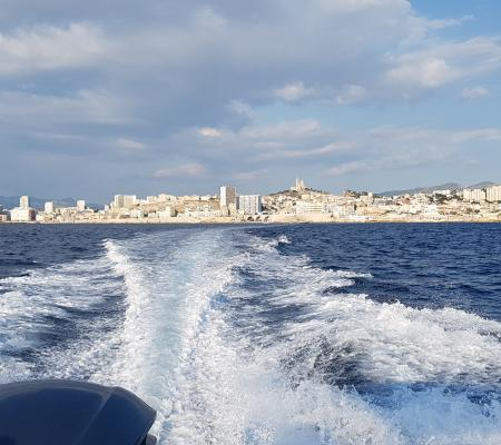 Transfer to the restaurant by boat in Marseille
