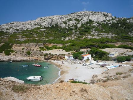 Visite de la calanque de Marseilleveyre en bateau